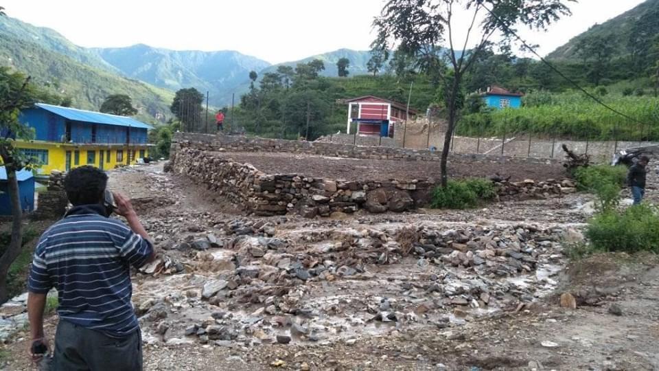 Gati Monsun Überschwemmung