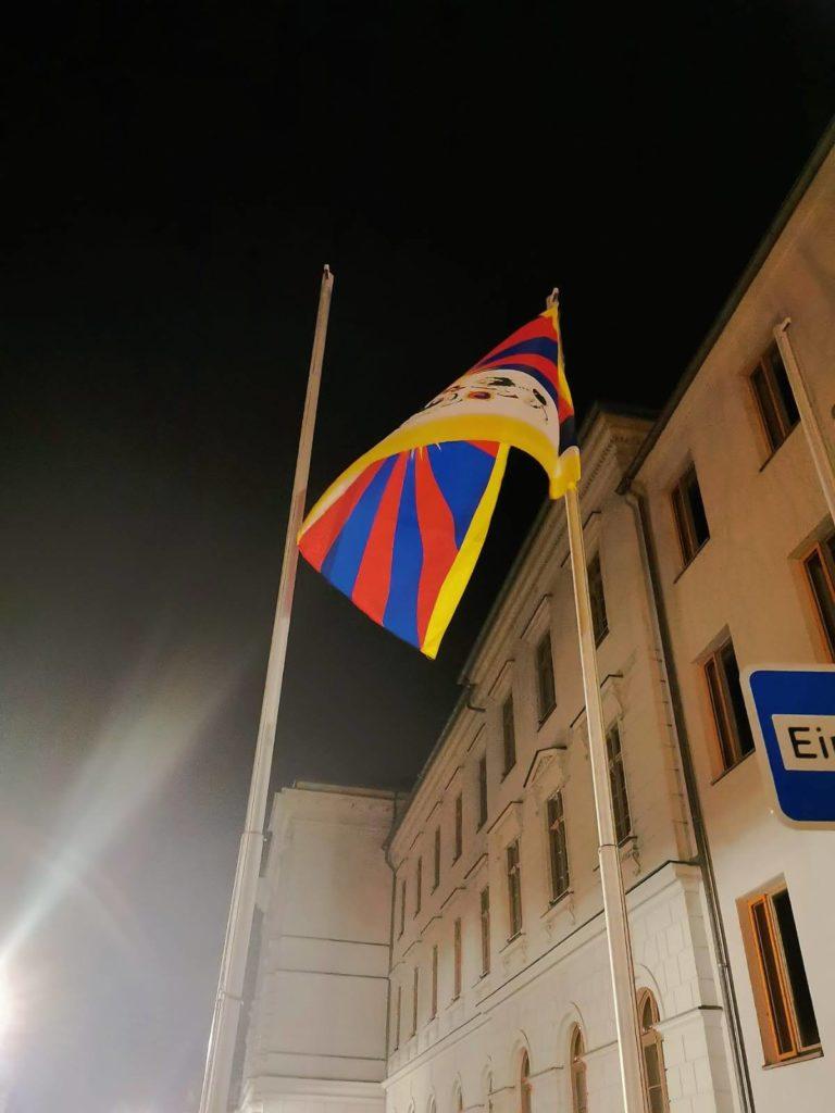 Flagge für Tibet Freiberg Free Tibet